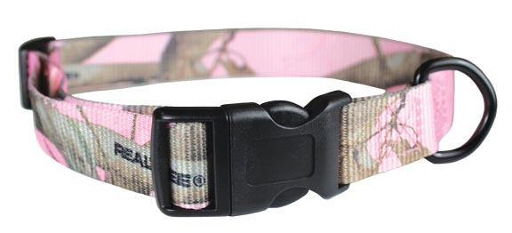 Realtree APC Pink Camo Dog Collar Kwik Klip