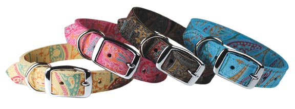 Paisley Collection Dog Collars by Leather Brothers