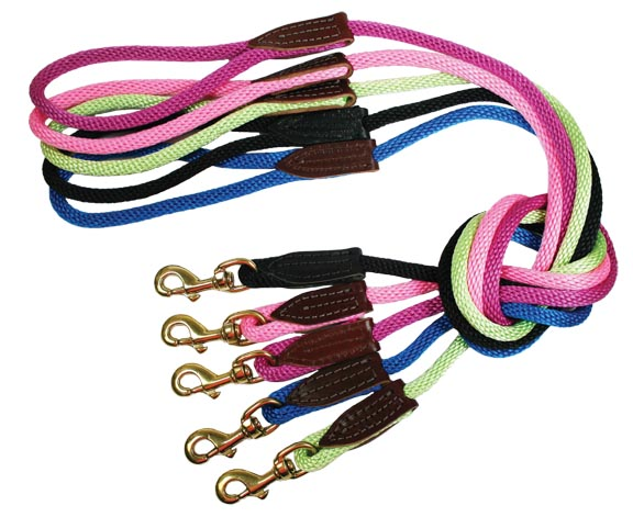 Leather Brothers Rope Lead with Brass
